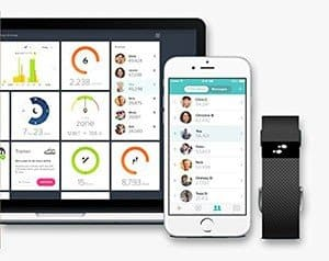 L'app del Fitbit Charge HR ha la stessa interfaccia e caratteristiche su iOS, Android e Windows Phone.
