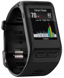 La batteria del Garmin Vivoactive HR in modalità GPS con monitoraggio attivo dura circa 13 ore